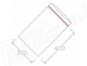 Rýchlozatváracie vrecká 300 x 400 mm