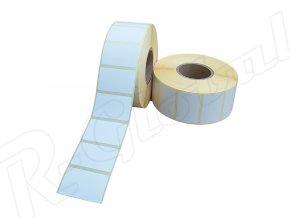 Papierová etiketa  38 x 21 mm