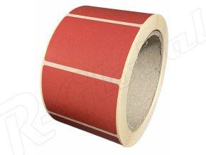 červené etikety 60 x 39 mm rglobal