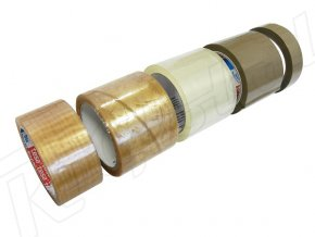 Štandardné lepiace PP pásky TESA hnedé