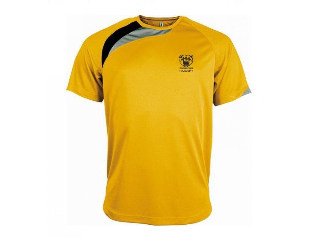 Triko sportovní žluté p