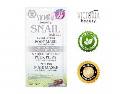 victoria beauty exfoliacni ponozky na nohy se snecim extraktem 1 par