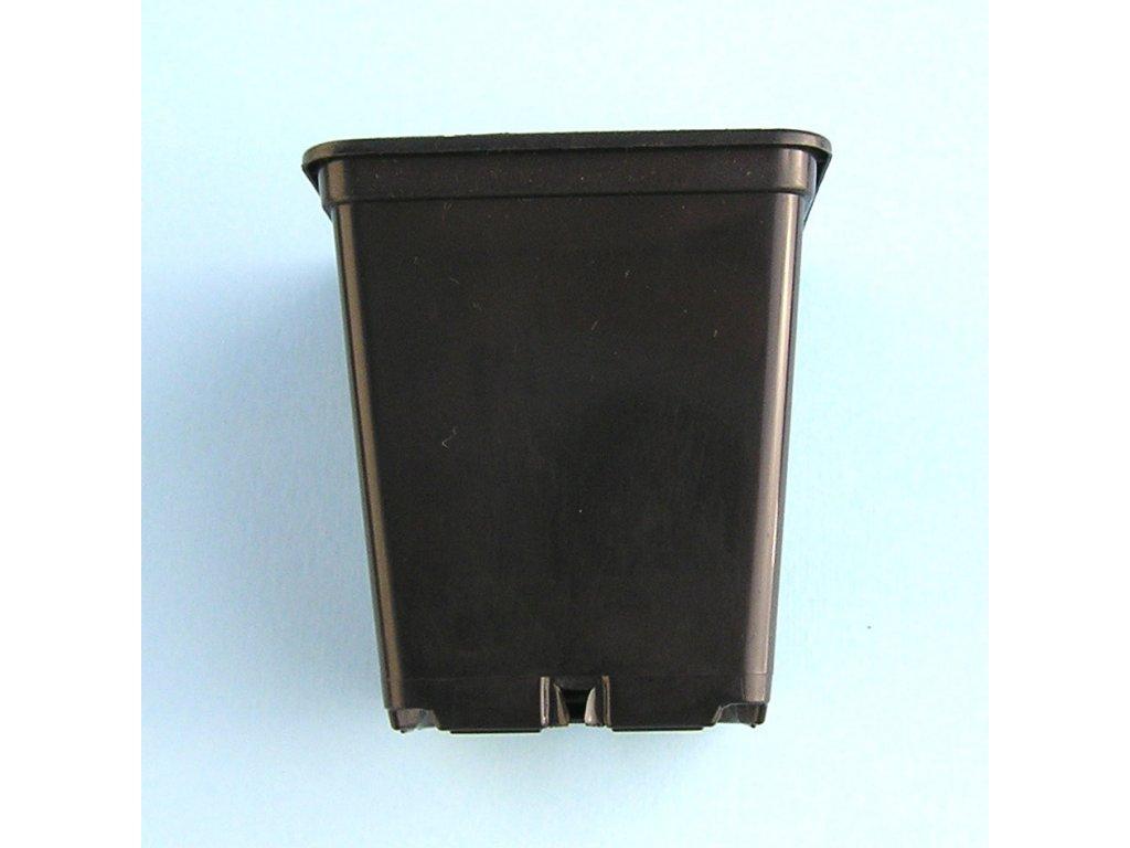 Květináč černý hranatý 9x9x10 cm 10 kusů