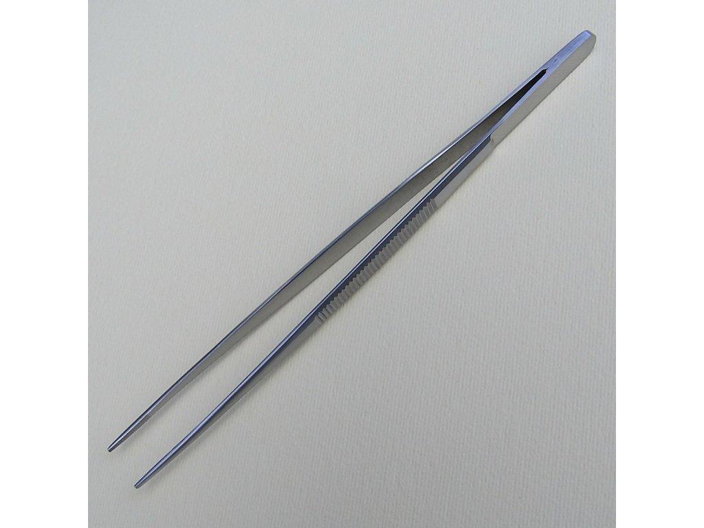 Pinzeta 18 cm s jemnými čelistmi