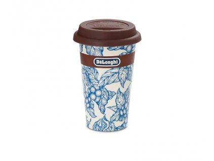 Travel mug Floreal blue