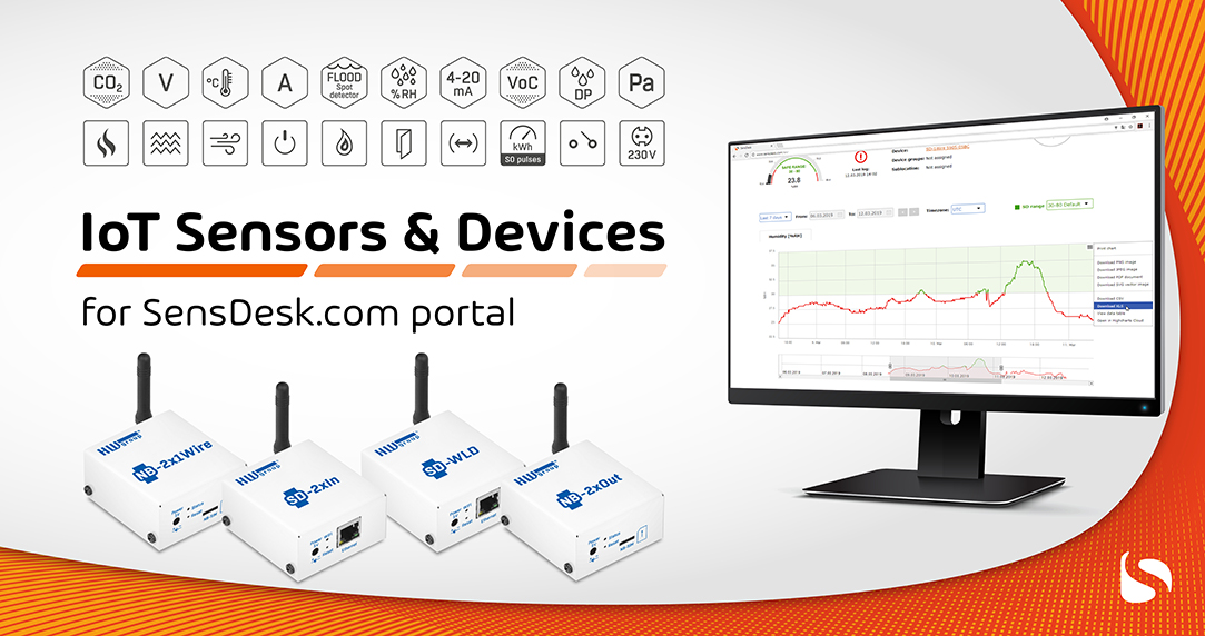 SensDesk Monitoring portal for your IoT projects