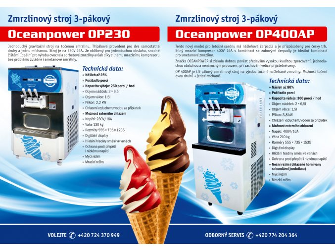 Zmrzlinový stroj OCEANPOWER