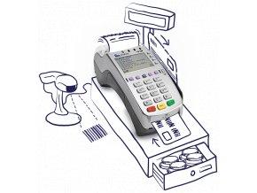 Platební terminál, EET pokladna  VX520 = 3 v 1  EET pokladna + platba kartou + elektronické stravenky