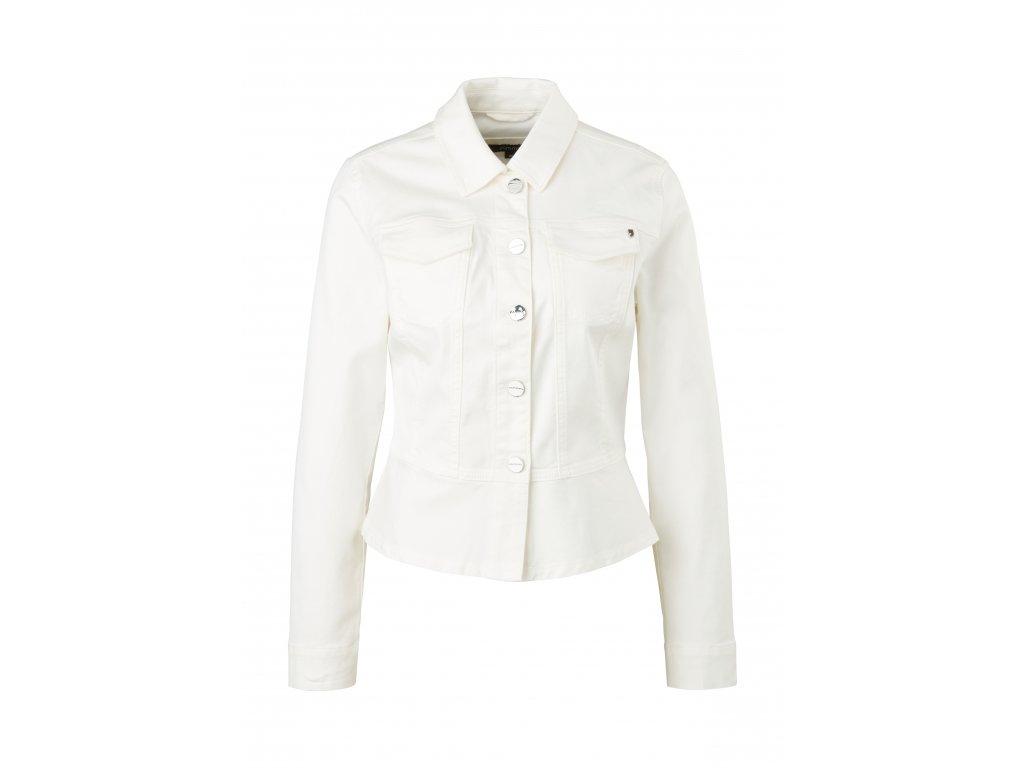 Bílá džínová bunda