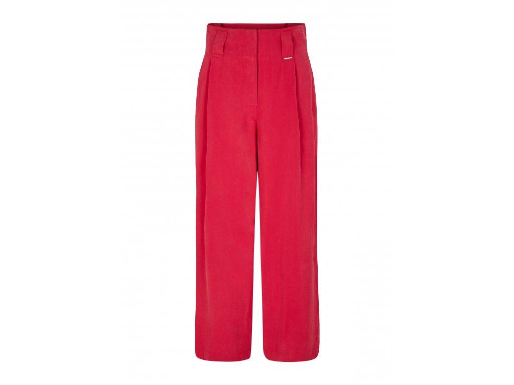 Růžové culotte kalhoty
