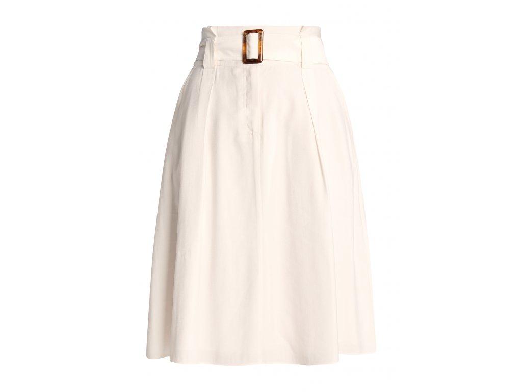 Bílá sukně s páskem
