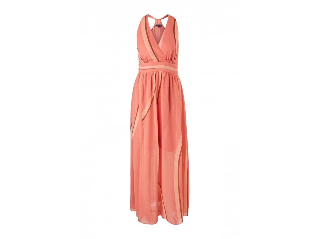 Korálové maxi šaty
