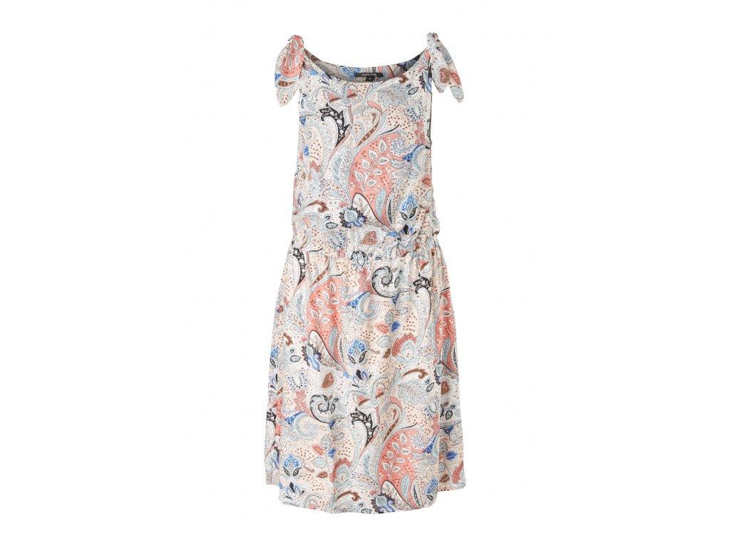 Krátké šaty s paisley vzorem