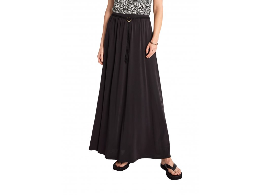 Maxi sukně s páskem