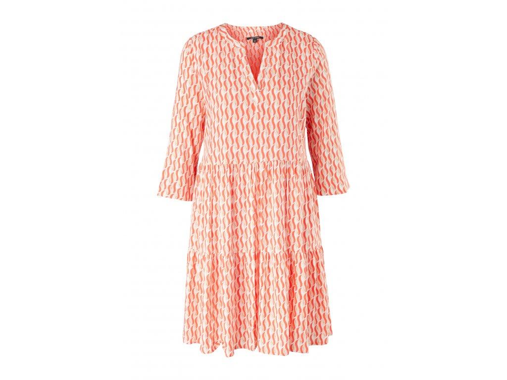 Korálové šaty s potiskem