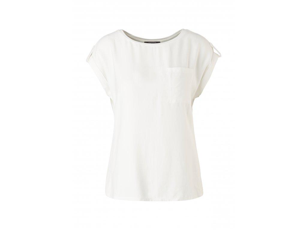 Bílé triko s kapsou
