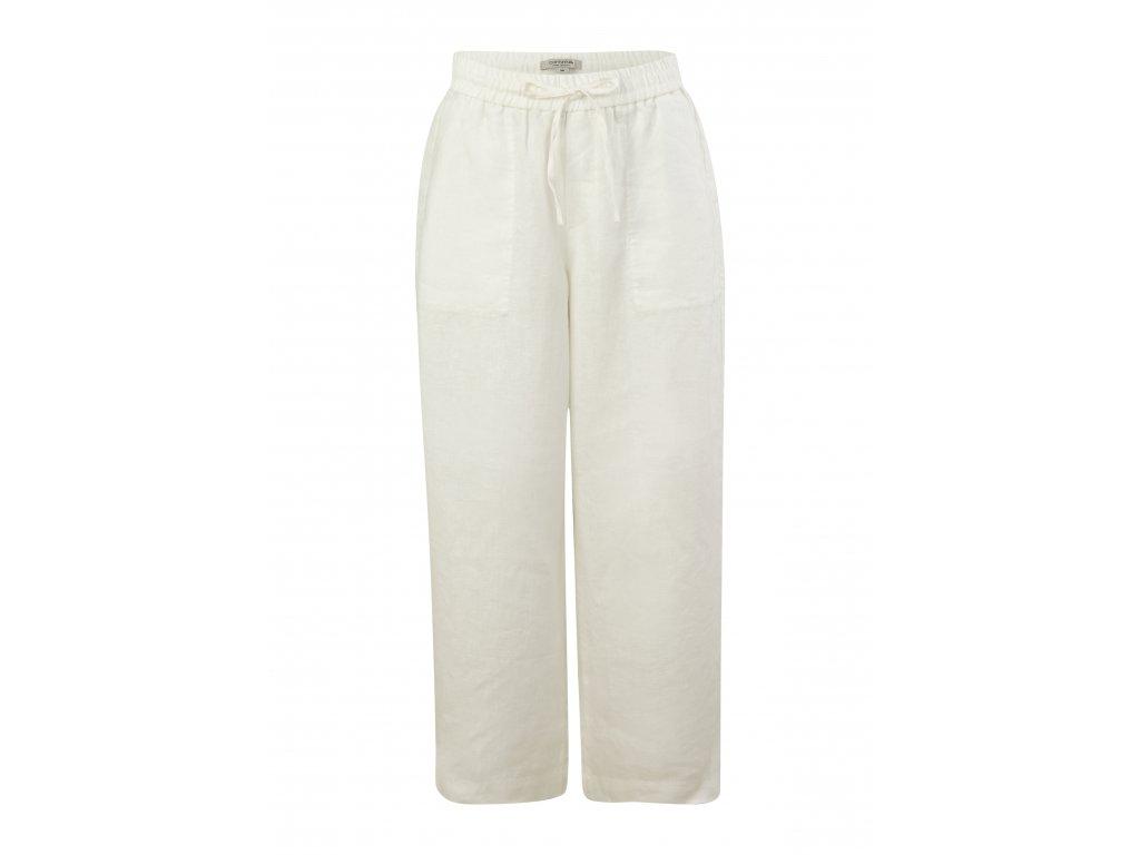 Lněné culotte kalhoty