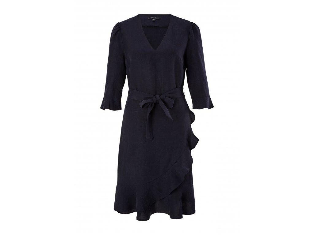 Lněné šaty s volánky