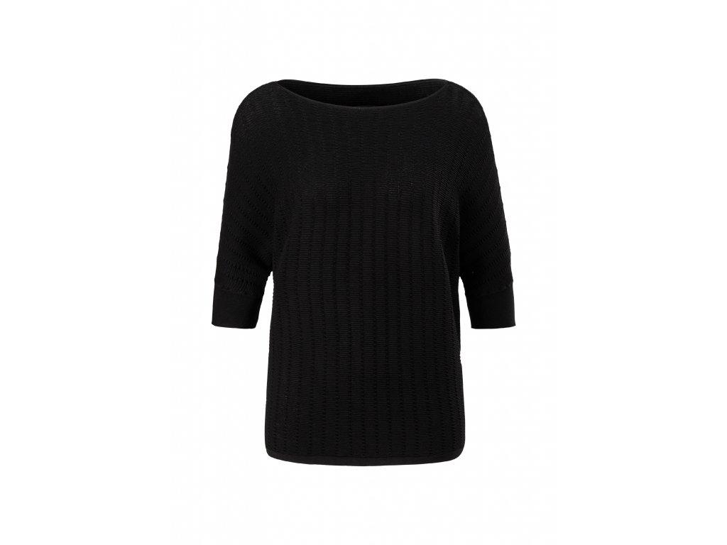 Pletený svetr s netopýřími rukávy