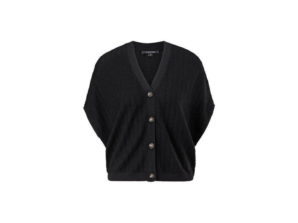 Volný svetr na knoflíky