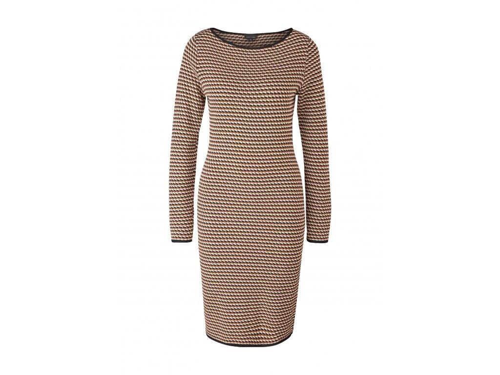 Úpletové šaty se vzorem