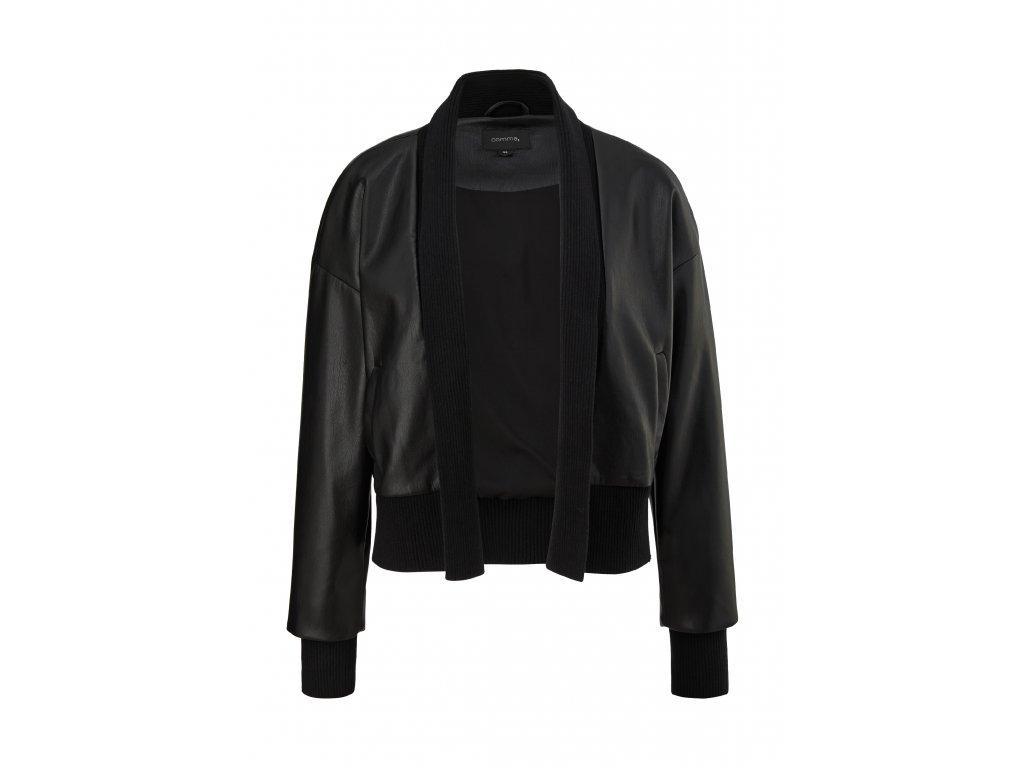 Krátká bunda z eko-kůže