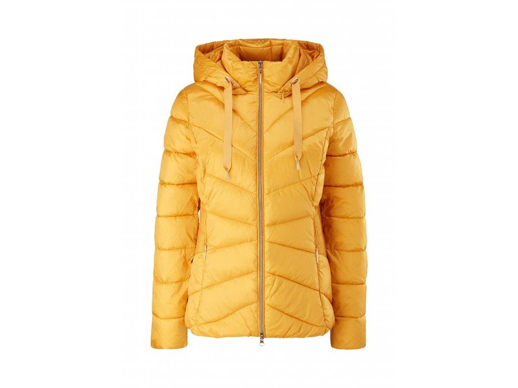 Žlutá prošívaná bunda