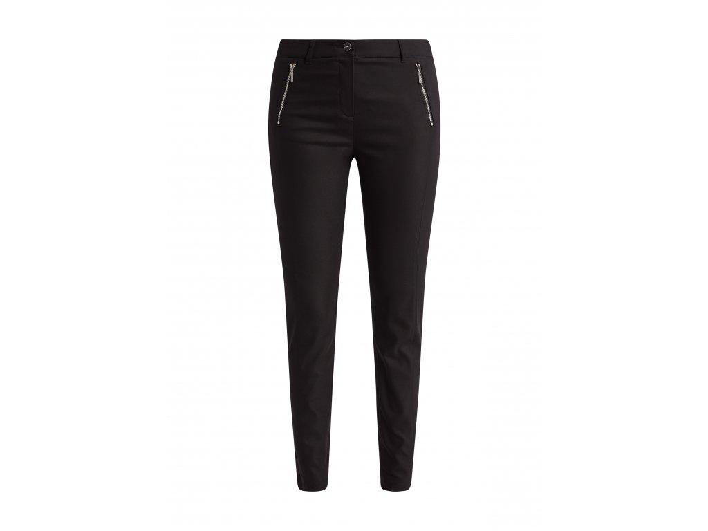 Černé strečové kalhoty