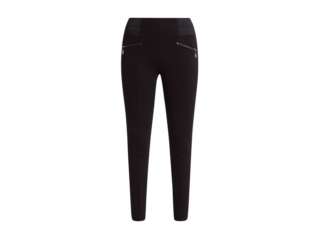 Černé legínové kalhoty