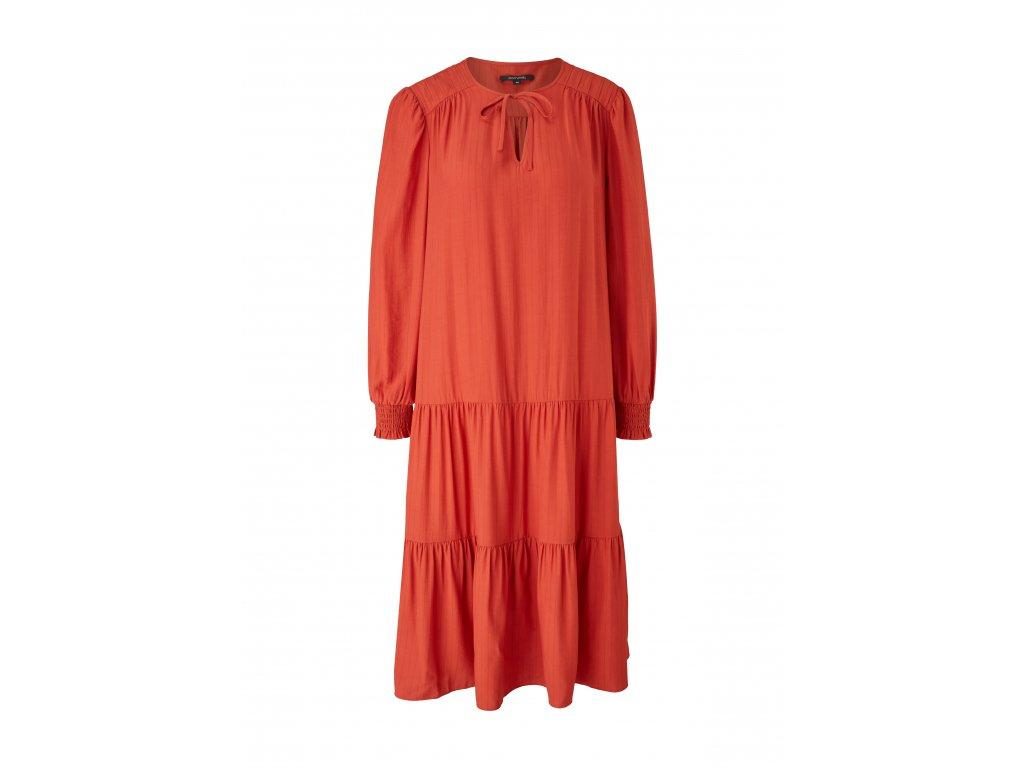 Cihlové midi šaty