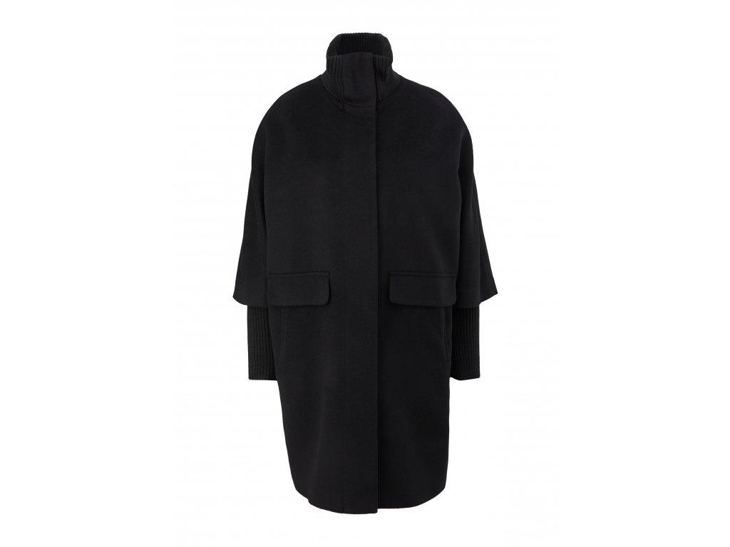 Kabát s pletenými rukávy