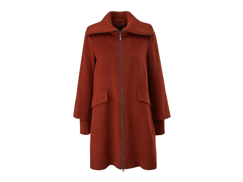 Vlněný kabát s límcem