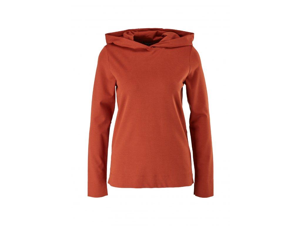 Úpletové triko s kapucí