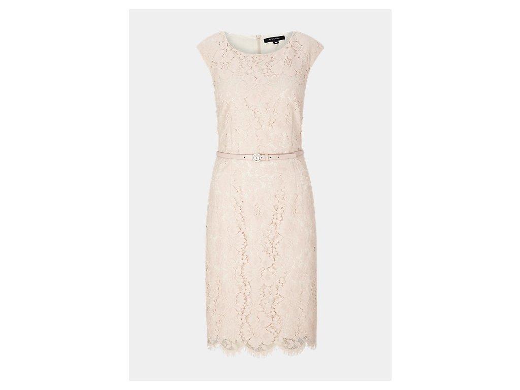 Krajkované pouzdrové šaty