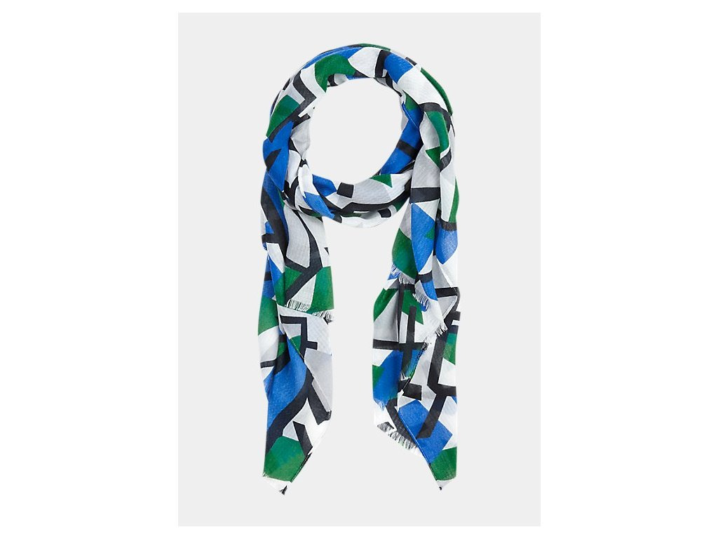 Šátek s geometrickými tvary