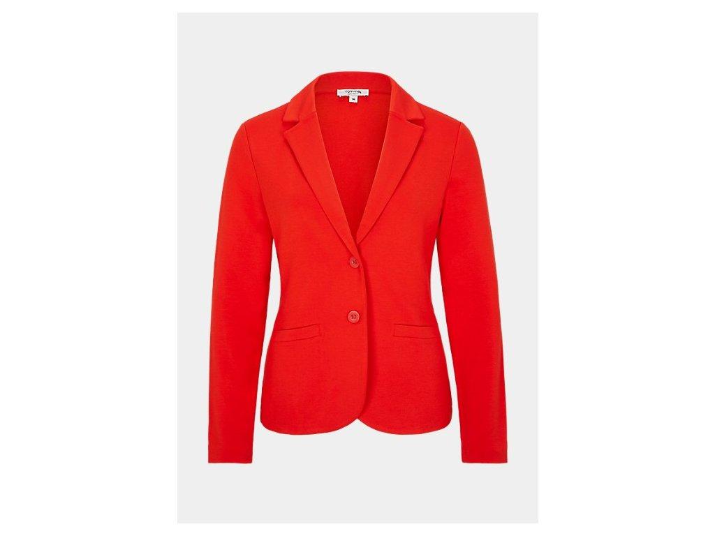 Červené úpletové sako