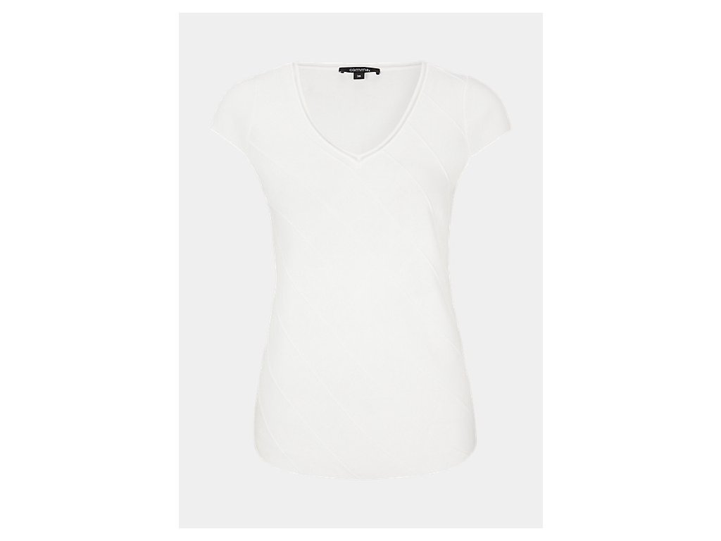 Bílé triko s výstřihem