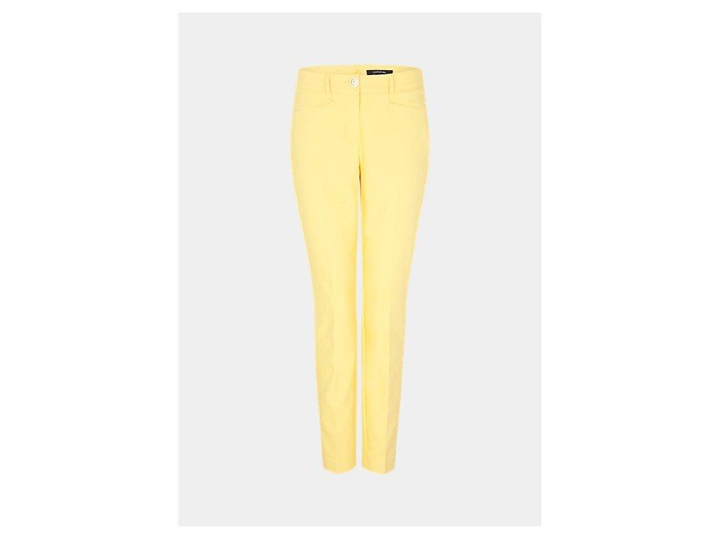 Žluté business kalhoty