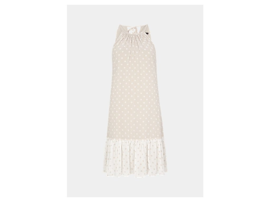 Béžové letní šaty