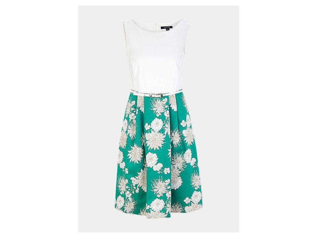 Šaty se zelenou sukní