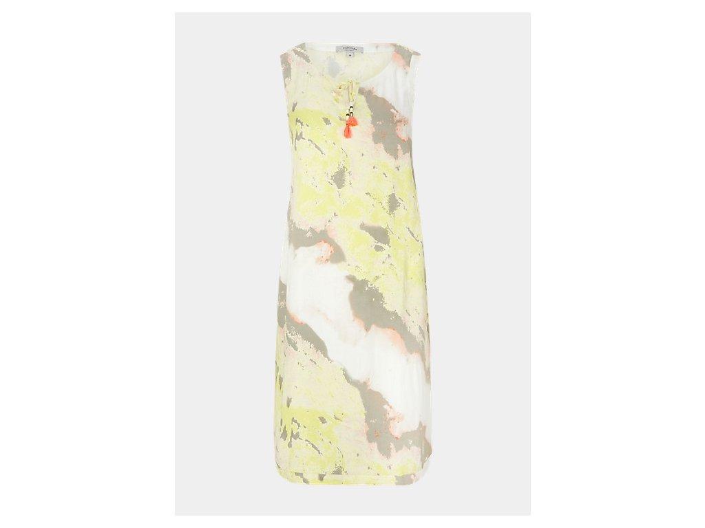 Krátké žluté šaty