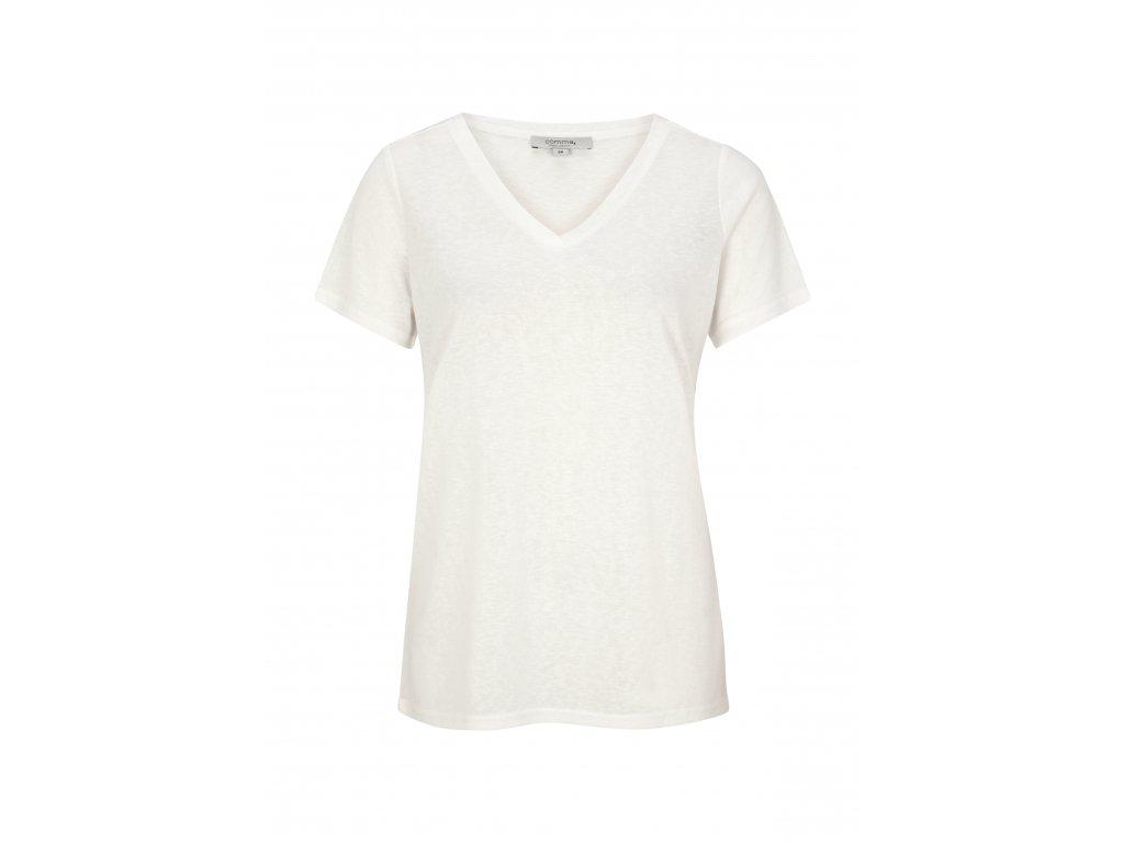 Bílé triko s krátkým rukávem