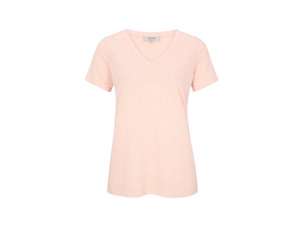 Korálové tričko s krátkým rukávem
