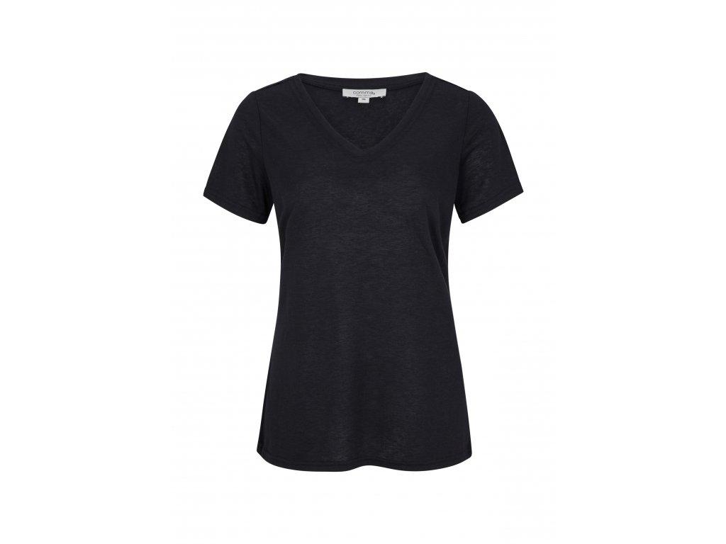 Tmavě modré triko s krátkým rukávem