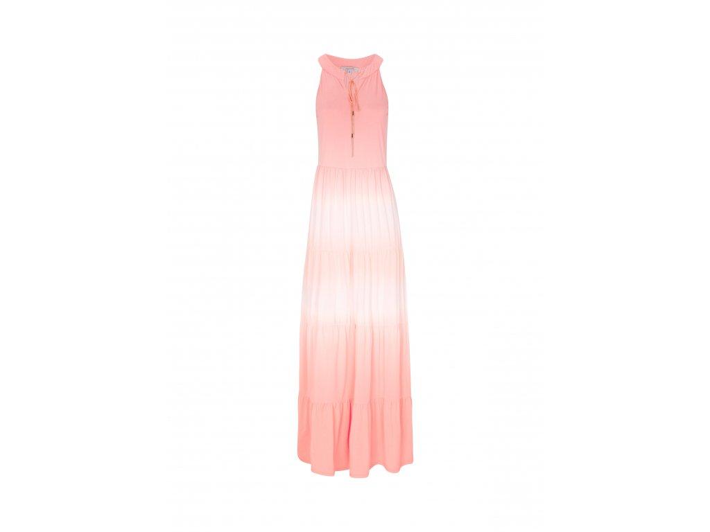 Korálové letní šaty