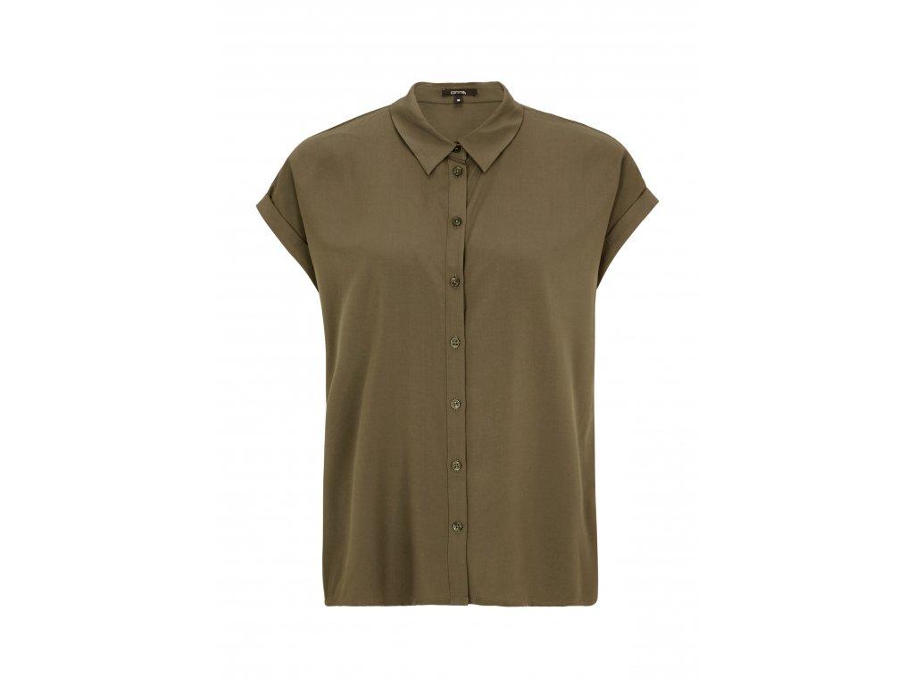 Khaki halenka s krátkým rukávem
