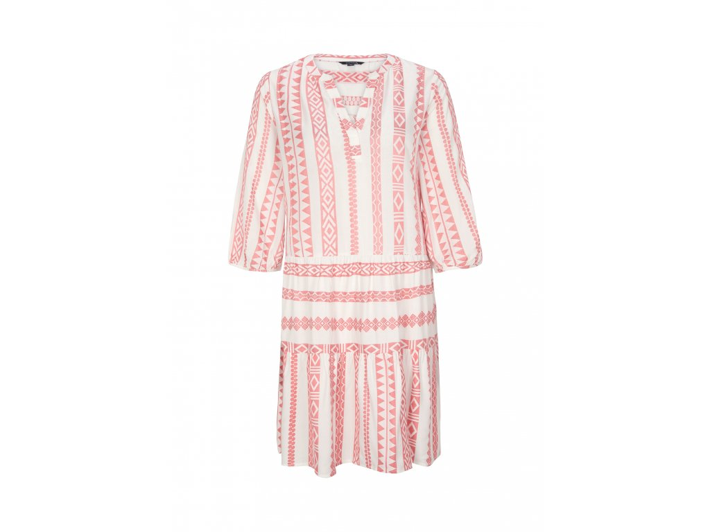 Růžové volné šaty