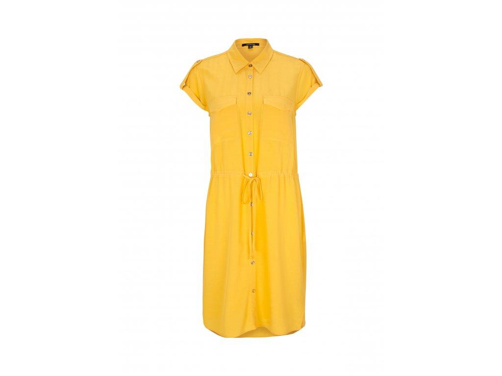 Žluté košilové šaty