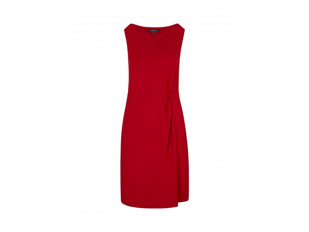 Červené úpletové šaty