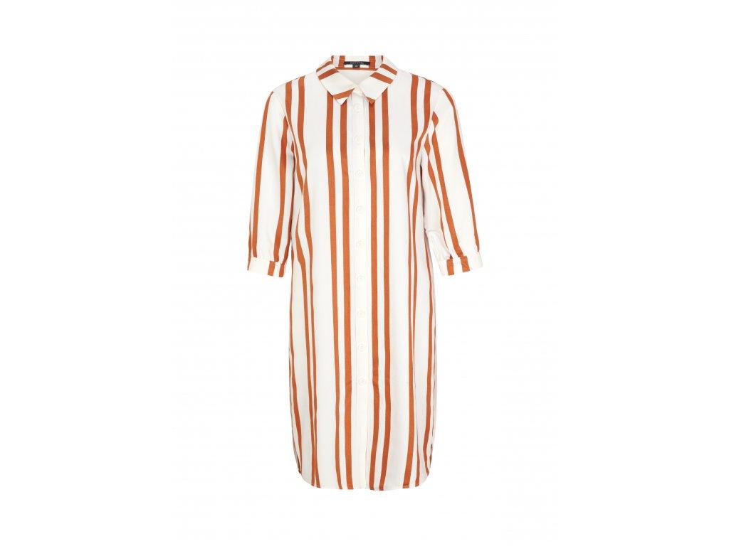 Košilové šaty s proužkem